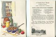 Vintage Tomato Rice With Beef Recipe Kitchen Pepper Mushrooms Skillet Note Card