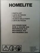 Homelite 300 Gasoline 2-cycle Chain Saw Parts Catalog Manual Chainsaw