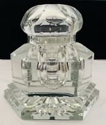 French Midcentury Baccarat Crystal Inkwell Limited Edition. 73/450