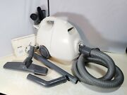Kenmore White 1.6 Hp Portable Hepa Canister Vacuum Cleaner W/ Head And Accessories