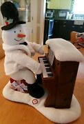 Hallmark Jingle Pals Piano Singing Snowman Excellent Working Condition With...