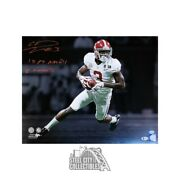 Calvin Ridley 15 17 Natl Champs Autographed Alabama 16x20 Photo - Bas Red Ink