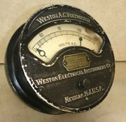 Weston A.c. Voltmeter Pat Aug 5th 1890 Very Neat Steampunk Antique Electrical