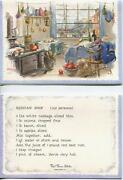 Vintage Sea Ship Cat Cottage Kitchen Russian Soup Recipe 1 Christmas Bakers Card