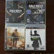 Call Of Duty Bundle Ps3 Modern Warfare 2 Black Ops Mw3 And Ghosts