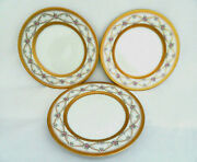 3 Piece Faberge Fine China Rose Trellis Bread And Butter Plates