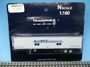 Trainworx N Scale 53' Reefer Trailer-alliance W/thermo-king Unit - New On Card