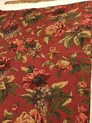 """Croscill Floral Shower Curtain Barn Red Cabbage Roses 72""""wx72""""l"""