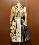 Moschino Couture Collection Line Coat Size 38 Multicolor Ladies Pre-owned