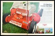 Lot 2 Ads 1967 Vintage Print Ad Toro 4-hp Lawn And Garden Tractors Minneapolis Mn