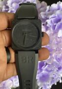 Bell And Ross Br-03-92-s Phantom Automatic Military Mens Watch W/ Box | 2 Straps