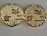2004 S Florida Silver And Clad Proof Statehood Quarters From U.s. Proof Sets