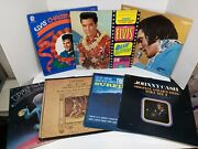 Lot Of 7 Rock And Classic Lp Records Elvis,beach Boys,johnny Cash,bright Eyes