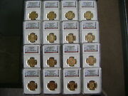 2007-2008-2009-2010-s Ngc Pf70 Ultra Cameo Presidential 16-coin Dollar Proof Set