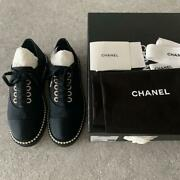 Authentic Shoes Pearl Sneaker Flat 24cm 37 Free Shipping No.7451