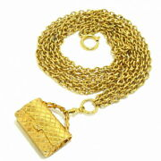 Sale Previously Owned Belt Chain Belt Bag Gold Metal Material No.8083
