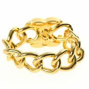Pole Turn Lock Chain Bracelet 96p Gold P4069 Previously Owned No.9083