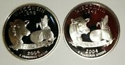 2004 S Wisconsin Silver And Clad Proof Statehood Quarters From U.s. Proof Sets
