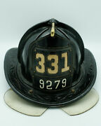 Authentic Retired Fdny Cairns Leather Fire Helmet, Front Shield, Dress Hat Etc.