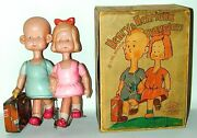 Henry And Henrietta Travelers Celluloid Wind-up Toy In Orig. Box Japan Circa 1934