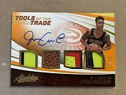 John Collins 2017-18 Absolute Tools Of The Trade Quad Patch Ball Auto Rookie /25