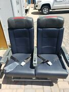 Authentic 767-300 Aircraft Row Of 2 Economy Seats.with Remotes And Phones