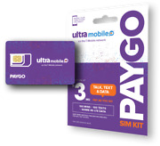 Ultra Mobile Paygo   3/mo. + Sim Card And Get A Visa Card As Gift