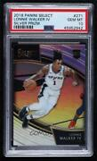 2018-19 Panini Select Courtside Silver Prizm Lonnie Walker Iv 271 Psa 10 Rookie