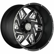 22x12 American Truxx Forged Atf1908 Orion 8x6.5/8x165.1 -44 Black Milled Wheels