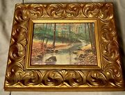 """Vintage Oil Painting Landscape Still Life Beautiful Country Scene Art 11"""" By 9"""""""