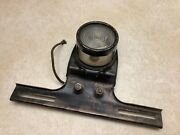 Auto Truck Back Up Lamp Ford E Vintage License Bracket Early Glass Tag Lamp Old