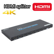 Hdmi Splitter 1 In 8 Out Full Ultra Hd 1x8 Hdmi Switch 4k/2k 60hz 1080p For Hdtv