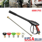 4000psi High Pressure Car Power Washer Spray Wand/lance Nozzle Tips Hose Kit