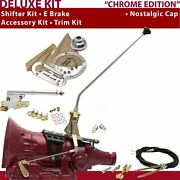 700r4 Shifter Kit 16andampquot E Brake Cable Clevis Trim Kit For Cf7f7