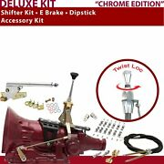 Pg Shifter Kit 6andampquot E Brake Cable Clamp Clevis Dipstick For C9231
