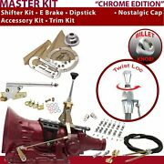 C4 Shifter Kit 6andampquot E Brake Cable Clamp Clevis Trim Kit Dipstick For F792