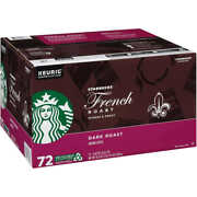 Starbucks French Dark Roast Coffee 72 K-cup Pods 24 Decaf Kcups = 96 2022 New