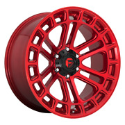 20 Inch Candy Red Wheels Rims Ford F150 Truck 6x135 Lug Fuel Offroad D719 20x9