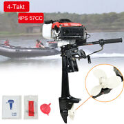 4 Hp 4 Stroke 57cc Heavy Duty Outboard Motor Boat Engine With Air Cooling System