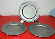 Wilton Rwp Armetale Queen Anne Columbia P.a 9 Plate Lot Of Three