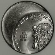 2000 Anacs Ms66 Way Off Center New Hampshire Quarter Mint Error Live Free Or Die