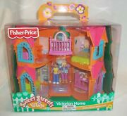 Fisher Price Sweet Streets Village Victorian Home Doll House Dolls Furniture New