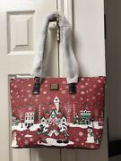 Disney Dooney And Bourke 2019 Christmas Holiday Purse Tote Bag Nwt
