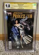 Princess Leia 1 Cgc 9.8 Ss Stan Lee Carrie Fisher +creative - Campbell Variant