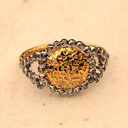 Vintage Style 1.90ct Clear Genuine Old Mine Rose Cut Diamond Silver Ring Jewelry