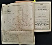 1868 Antique Worcester Ma History W Foldout Map History Genealogy Tons Of Ads