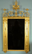 19th Century Large Giltwood Mirror In The Style Of Robert Adam C. 1890
