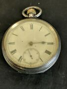 Antiques Victorian Fusee Silver Pocket Watch.