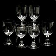 Six 6 Baccarat Crystal Gascogne Tall Water Goblets, 6.5h, Signed