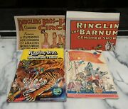 Lot 4 Ringling Bros Barnum Bailey Circus Poster Program Combined Show Neck 1969